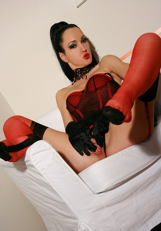 fetish liza sexy red stockings